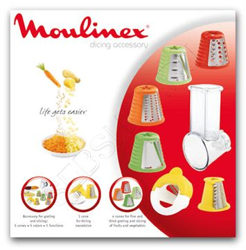 Комплект насадок тёрок  к мясорубкам Moulinex (Мулинекс) HV3, HV4, HV6, HV8, HV9, HV10, XF403030