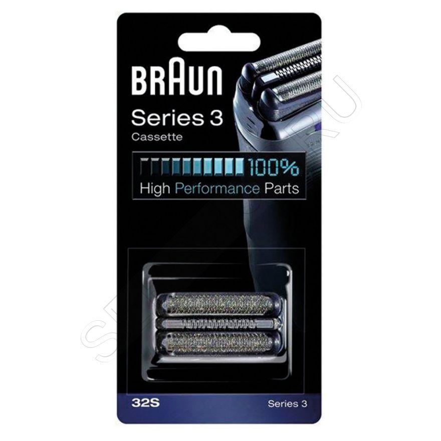Сетка и режущий блок 32S для электробритв Braun Series 3, артикул 81387956