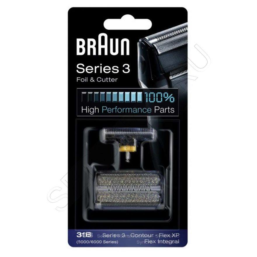 Сетка и режущий блок 31B для бритвы Braun (Браун) Series 3, артикул 81387938