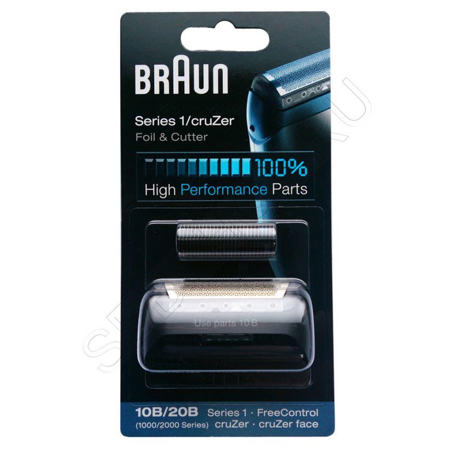Сетка и режущий блок 10B/20B для бритвы Браун (Braun) Series 1, артикул 81387932