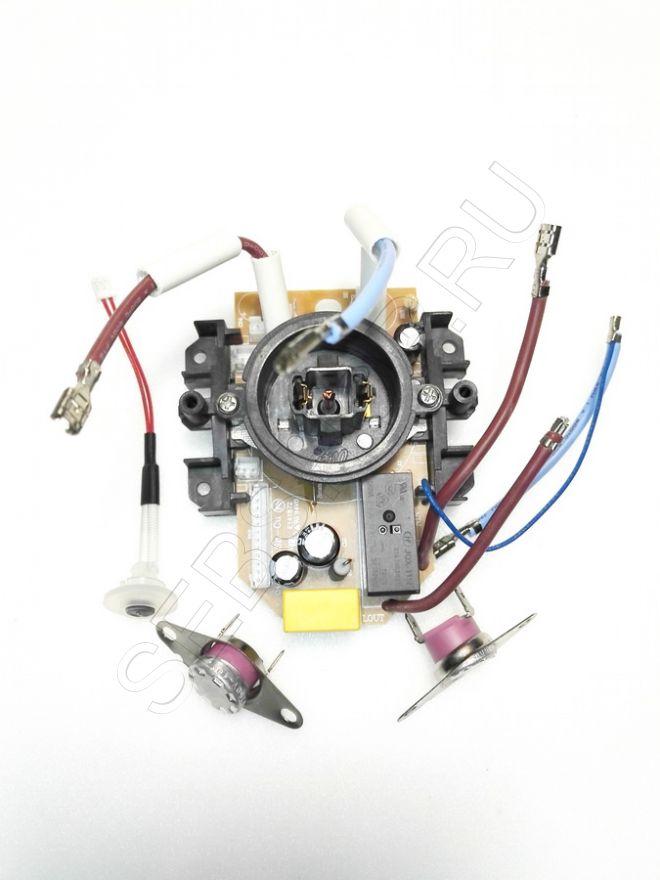 Контактная группа чайника Tefal серии KI410 в сборе термостатами, термодатчиком