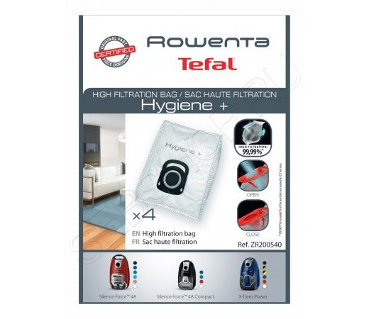 Мешки для пылесоса TEFAL (Тефаль), ROWENTA (Ровента)  Silence Force, ZR200540